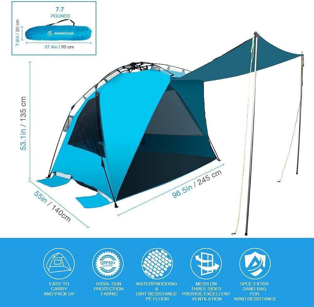 Mounchain Beach Tent Outdoors Easy