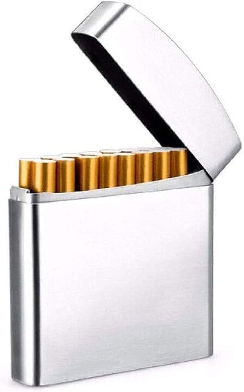 YWAWJ Estuche de Cigarrillos, Estuche de Cigarrillo a Prueba de Humedad portátil y a Prueba de presión Puede Contener 20 Cigarrillos, Estuche de Cigarrillos de Cuero Ultrafino para Hombres y Mujeres,