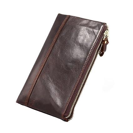 Cuir Portefeuilles Homme,Fezhiomu Original Classique RFID Hommes Bifold  Véritable Portefeuille en Cuir et Portefeuille 652820ab9f8