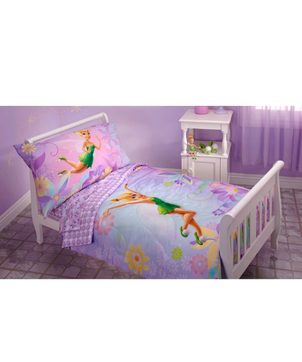 Amazon.com  Disney Tinkerbell 4-piece Toddler Bedding Set - Sprinkling Pixie Dust.  Tinker Bell Toddler Bedding Set  Baby  sc 1 st  Amazon.com & Amazon.com : Disney Tinkerbell 4-piece Toddler Bedding Set ...