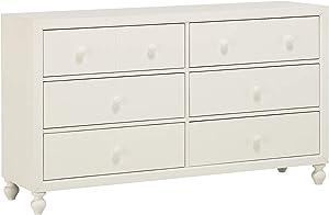 Homelegance 6-Drawer Dresser, One-Size, White