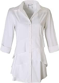 product image for Finley Shirts Jenna 3/4 Sleeve White