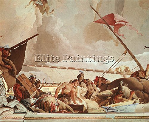 TIEPOLO PALACIO REAL GLORY SPAIN DETAIL1 ARTIST PAINTING OIL CANVAS REPRO ART 40x48inch MUSEUM QUALITY by Elite-Paintings
