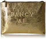 MILLY Metallic Leather Debossed Fancy Af Clutch
