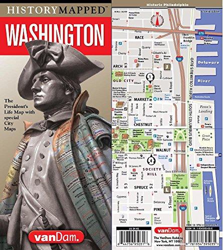 HistoryMapped George Washington Presidential Map - NE - Washington Boston Street Map
