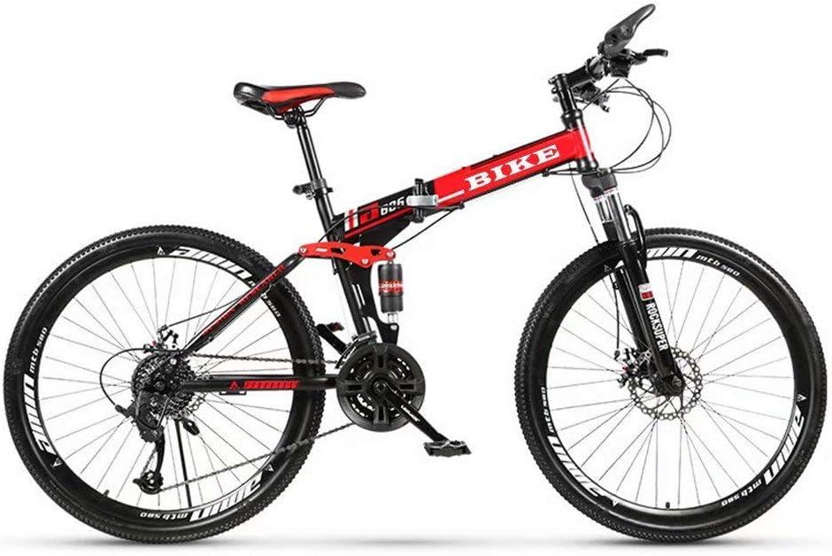 Novokart-Mountain Bike Unisex, Bicicletas montaña 21/24/27 Pulgadas, MTB para Hombre, Mujer, con Asiento Ajustable, Frenos de Doble Disco, Negro,Rueda de radios
