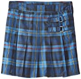French Toast Big Girls' Plaid Pleated Scooter, Blue/Red Plaid, 16