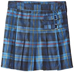 French Toast Big Girls\' Pleated Scooter, Blue/Red Plaid, 16