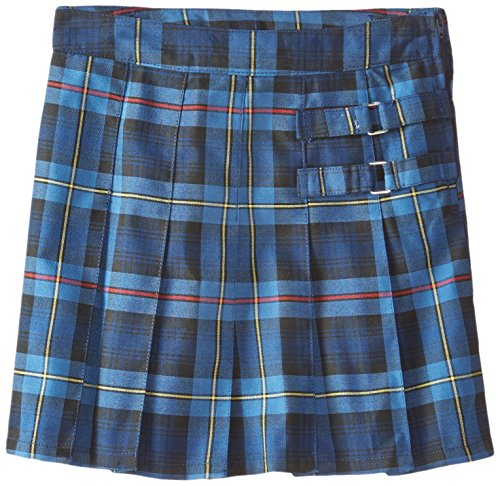 French Toast Big Girls' Plaid Pleated Scooter, Blue/Red Plaid, 16 by French Toast