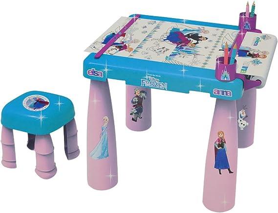 Bildo 8717 Frozen - Mesa de Dibujo y Taburete, Multicolor: Amazon.es: Juguetes y juegos