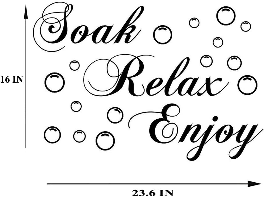 15 x 22.8 Lchen Soak Your Troubles Away PVC Wall Sticker Decal Home Bathroom Background Decor Removable