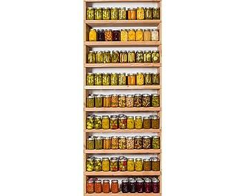 Awallo Dekopanel Motiv Einmachgläser In Rot Gelb Braun Beige Orange Gelb  Fototapete Bild Tapete Wand