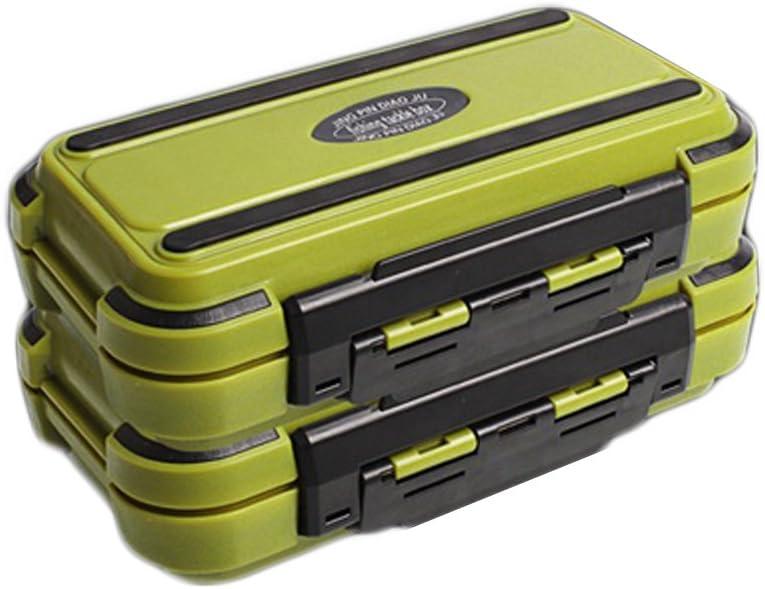 dljztrade Professionelle Angelk/öder-Aufbewahrungsbox aus Kunststoff tragbar 24 F/ächer doppelschichtig 1 St/ück