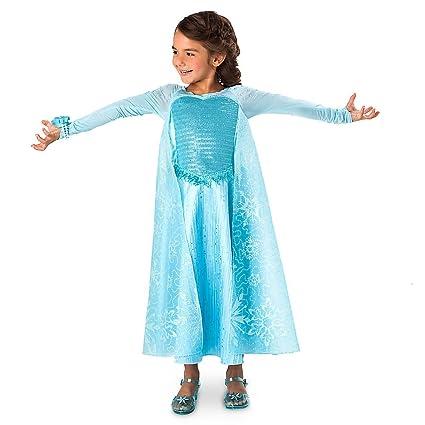 Disney Frozen Elsa Deluxe Costume with Light-up Bracelet Size 9/10 Blue  sc 1 st  Amazon.com & Amazon.com: Disney Frozen Elsa Deluxe Costume with Light-up Bracelet ...