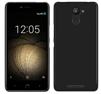 Tumundosmartphone Funda Gel TPU para BQ AQUARIS U Plus Color Negra