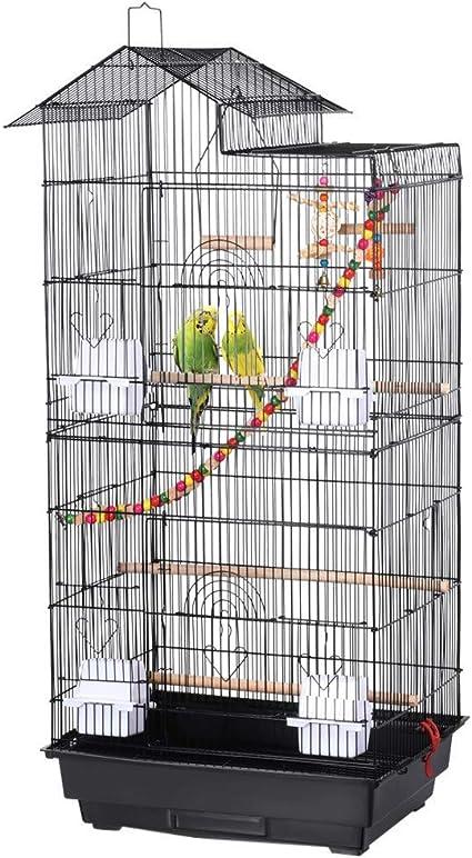 Yaheetech Jaula Grande Para Pájaros De 39 0 In Para Loros Cuáqueros Cacatúas Solares Mejillas Verdes Perritos Perritos Y Perritos Mascotas