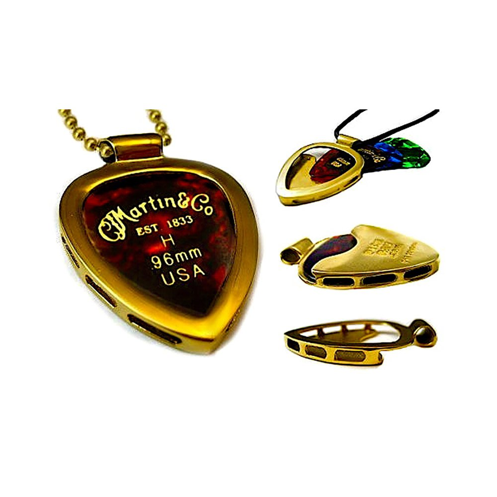Amazon pickbay gold n shiny gold ipg guitar pick holder amazon pickbay gold n shiny gold ipg guitar pick holder pendant necklace martin variety gauge pick set with 24 adj 32mm bigger brass ball mozeypictures Choice Image