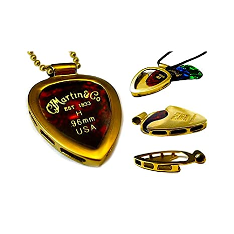 Amazon pickbay gold n shiny gold ipg guitar pick holder pickbay gold n shiny gold ipg guitar pick holder pendant necklace martin mozeypictures Image collections