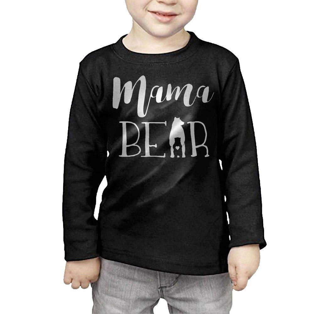 Fryhyu8 Baby Girls Childrens Mama Bear Printed Long Sleeve 100/% Cotton Infants Tops