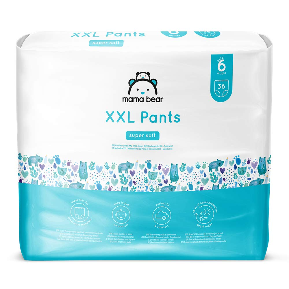 Marca Amazon- Mama Bear Pañal de aprendizaje XXL- Talla 6 (18-30kg