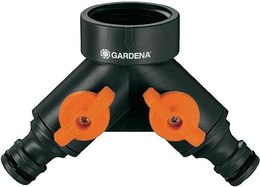 Gardena 940-26 940-26-Distribuidor Doble para grifos 20/27 y 26/34. 2 Ajustables con válvula de Cierre en Cada Salida, Estándar: Amazon.es: Jardín