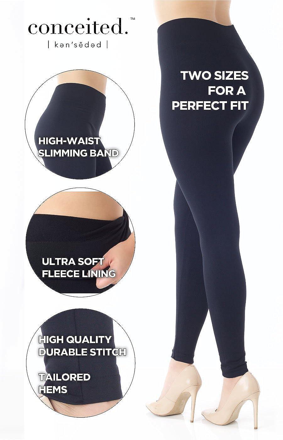 ececeb72035fe Premium Women s Fleece Lined Leggings - High Waist - Regular and Plus Size  - 20+ Colors at Amazon Women s Clothing store