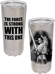 Vandor 99809 Star Wars Rey 20 Ounce Stainless Steel Vacuum Tumbler, Tumbler-20 oz, Multicolored