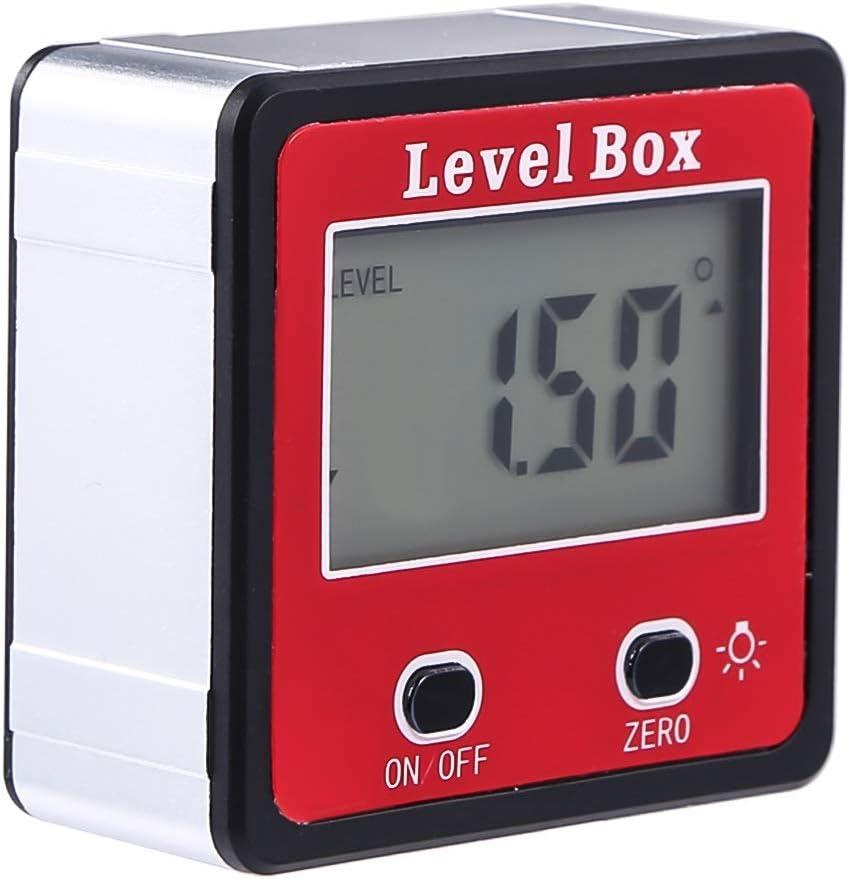 LCD Digital Inclinometer Level Box Protractor Angle Finder Bevel Gauge Magnet US