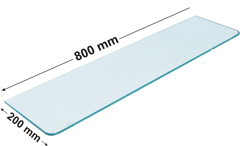 200 x 800 mm Home System 782080T Ripiano Vetro Temperato