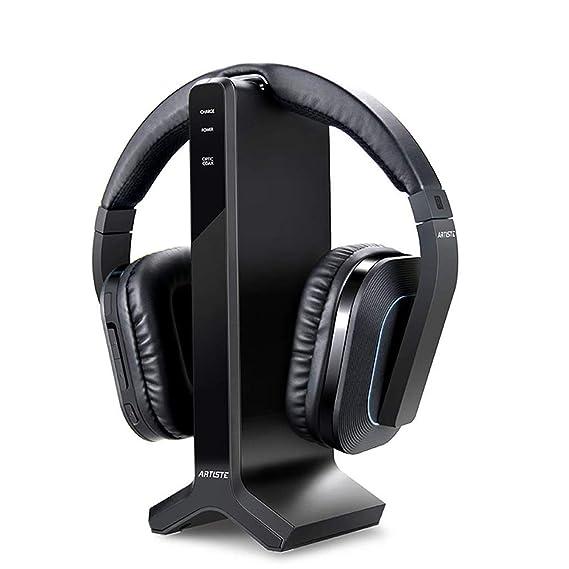 5f896e37cd9 Wireless Stereo TV Headphones, Artiste D1 2.4GHz Optical Fiber TV Headset  for TV Listening