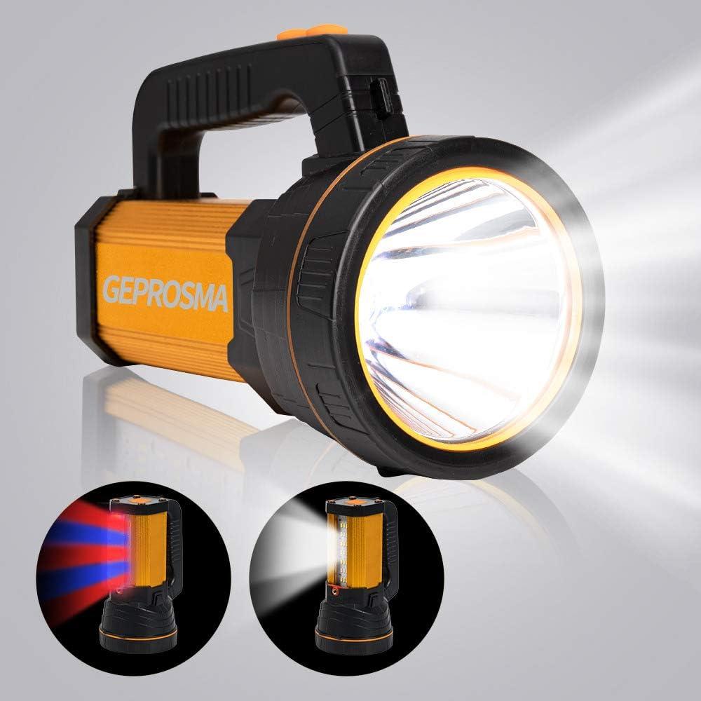 200000LM P50 LED USB Recharge Flashlight Work Light Spotlight Searchlight