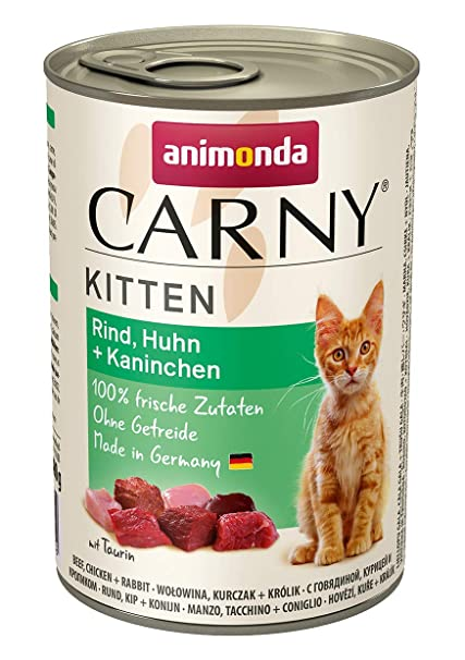 Animonda Comida húmeda para Gatos jóvenes Carny: Amazon.es ...