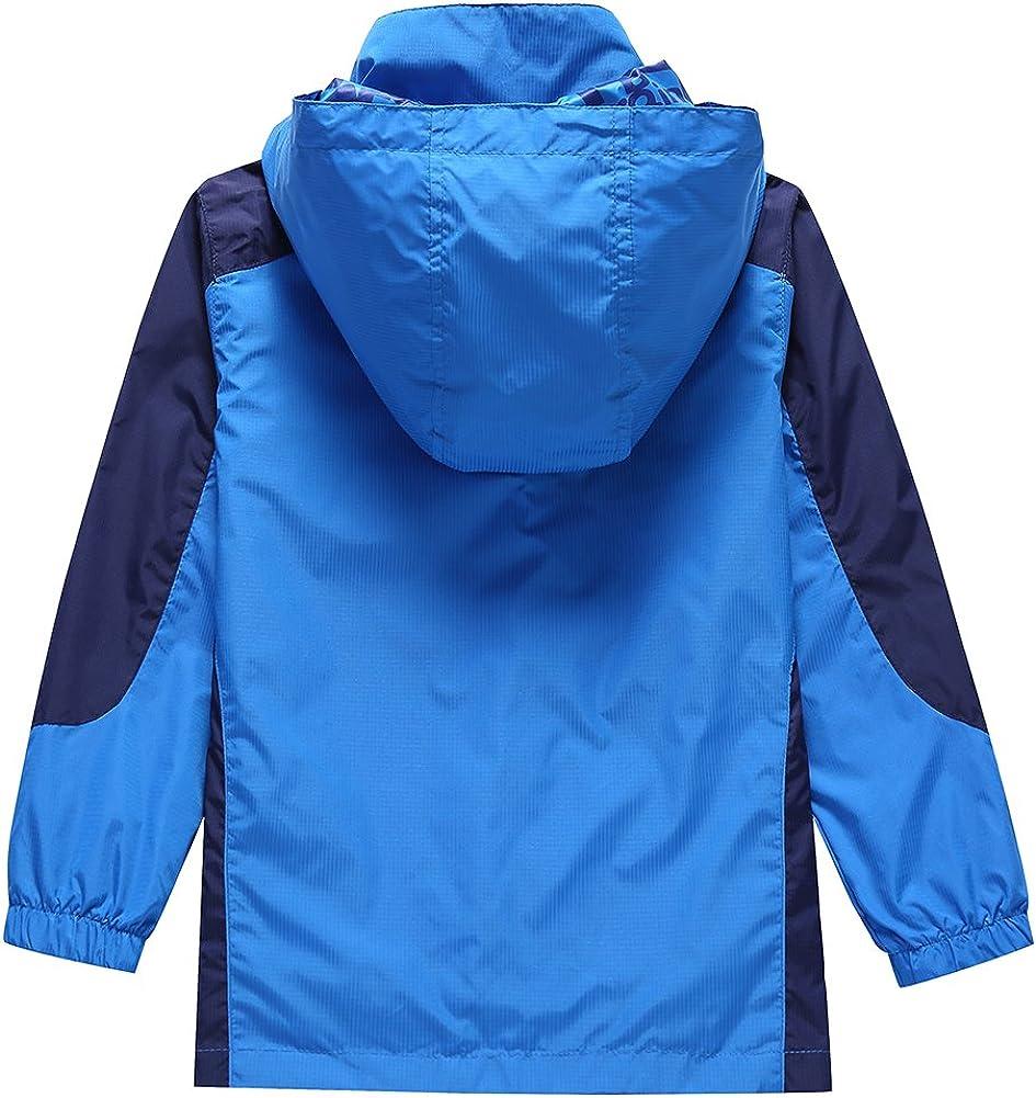 Bifast Kids Lightweight Waterproof Hooded Jacket Outwear Raincoat With Pockets