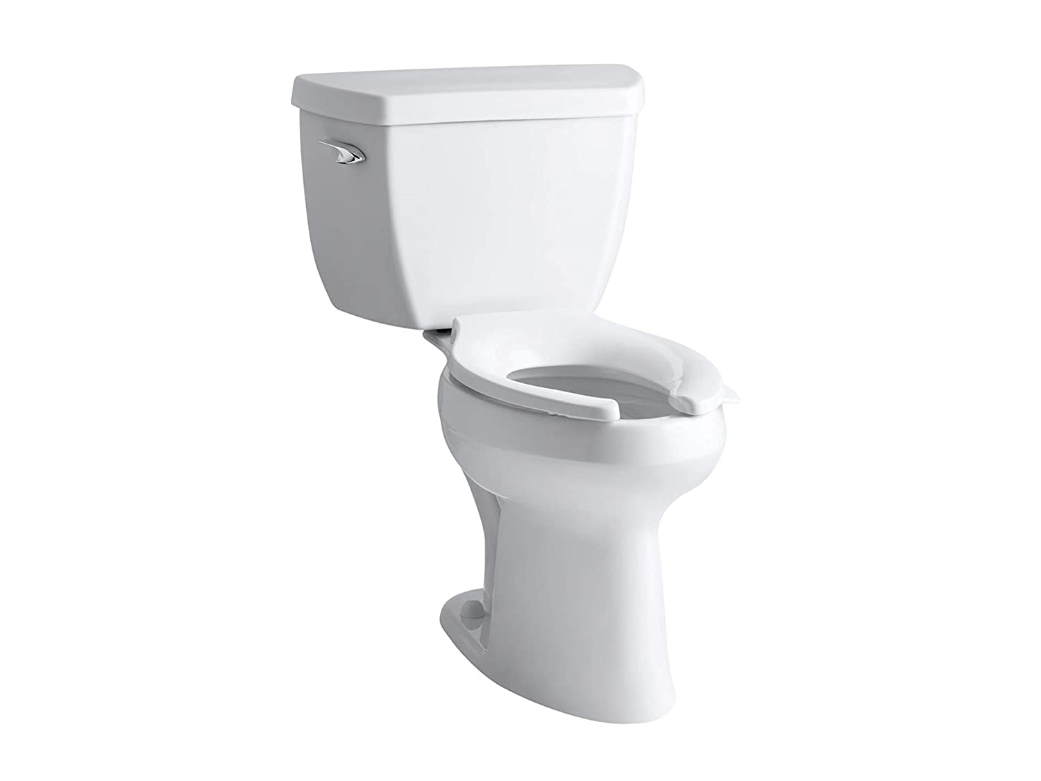 Kohler K-3493-0 Highline Classic Pressure Lite Comfort Height Elongated 1 6  gpf Toilet with Left-Hand Trip Lever, Less Seat, White