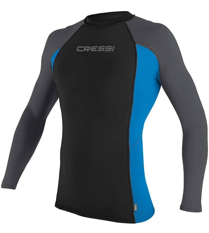 Cressi Mens's Short & Long Sleeve Rash Guard Swimming, Surfing, Diving