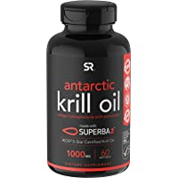 Antarctic Krill Oil (Double Strength) with Omega-3s EPA, DHA and Astaxanthin (60...
