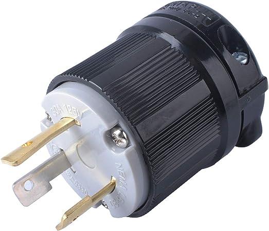 L5-30 FEMALE 30 Amp 125 Volt Twist Lock 3 Wire Power Cord Plug FEMALE CONNECTOR