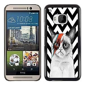 Dragon Case - FOR HTC One M9 - Love needs darkness to develop - Caja protectora de pl??stico duro de la cubierta Dise?¡Ào Slim Fit
