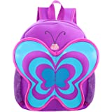 Kids Backpack | Fenrici | Boys | Girls | Toddler | Preschooler | Cute Animal | Butterfly | Purple