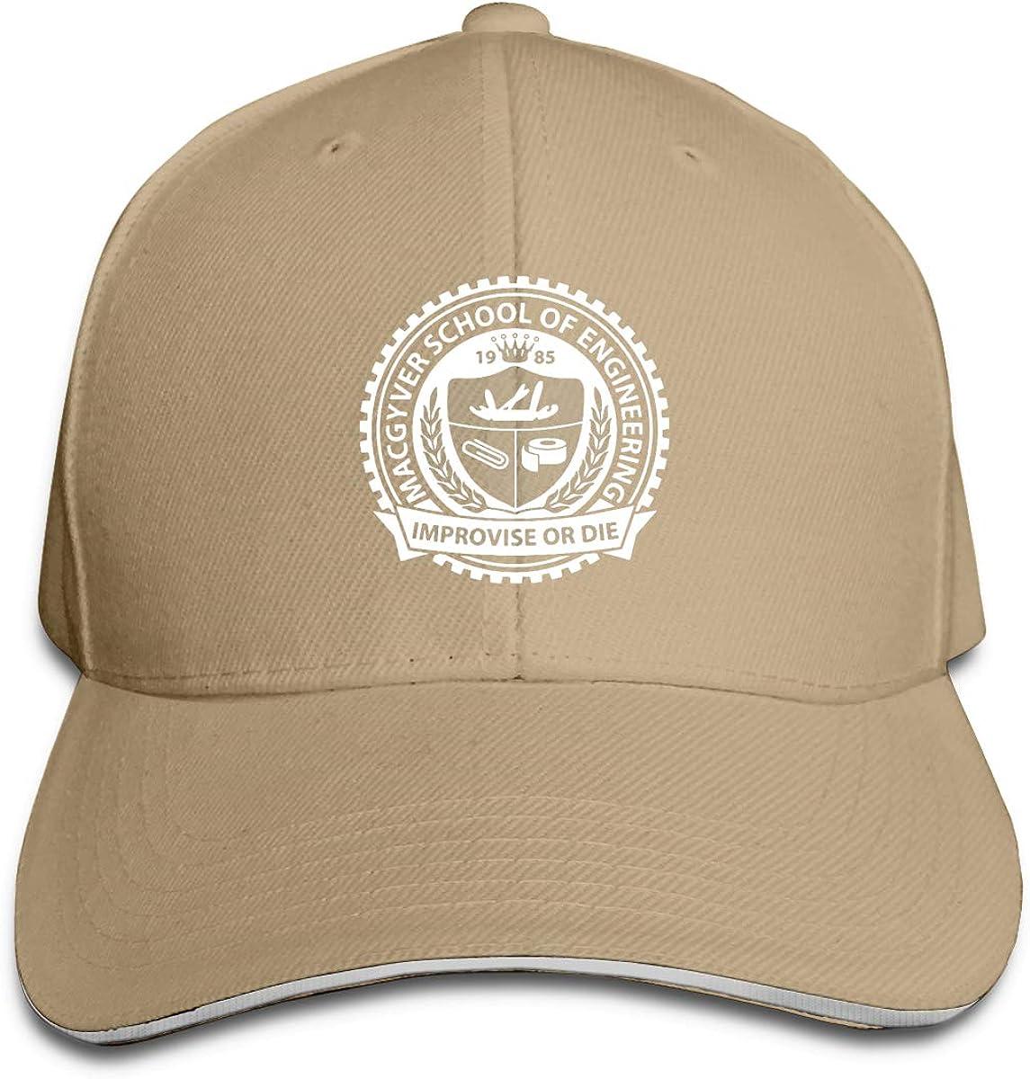 Eugrandet Macgyver School of Engineering Improvise Or Die Unisex Twill Adjustable Sports Hat