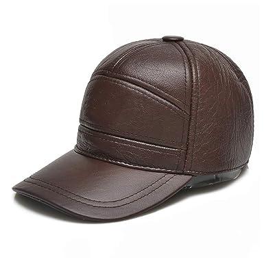 Wanzheronya Sombrero de Jazz para Hombre Gorra de béisbol de Cuero ...