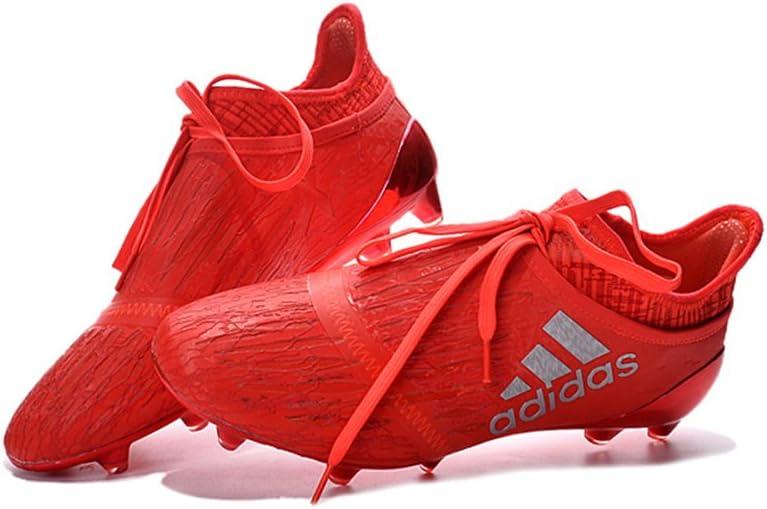 Botines de fútbol para hombre +16 PureChaos con tapones FG/AG rojos, de ZhromgYay, color Rojo, talla 39 EU: Amazon.es: Deportes y aire libre