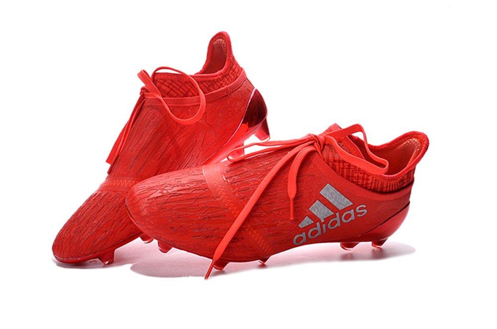 Botines de fútbol para hombre +16 PureChaos con tapones FG/AG rojos, de ZhromgYay, color Rojo, talla 45: Amazon.es: Deportes y aire libre