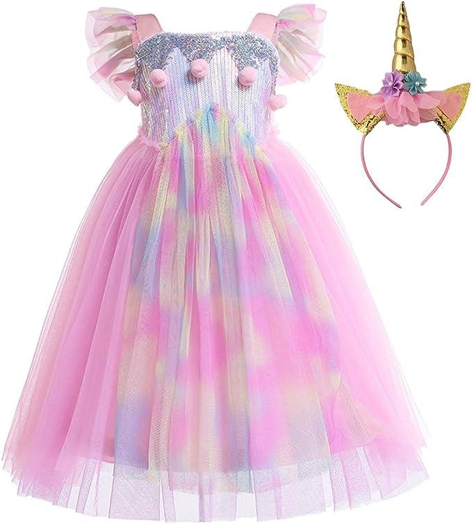 Amazon.com: MYRISAM Disfraz de unicornio de princesa ...