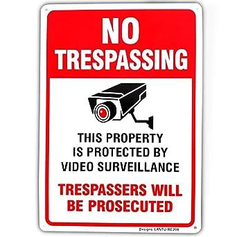 Amazon.com: Señal de seguridad de propiedad privada, de 10 x ...