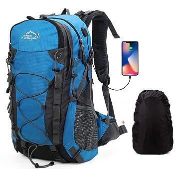 Deporte al aire libre, Escuela de mochila de peso ligero para acampar, viaje, Escalada, Correr, Ciclismo Mochila Bolsa (Azul): Amazon.es: Deportes y aire ...