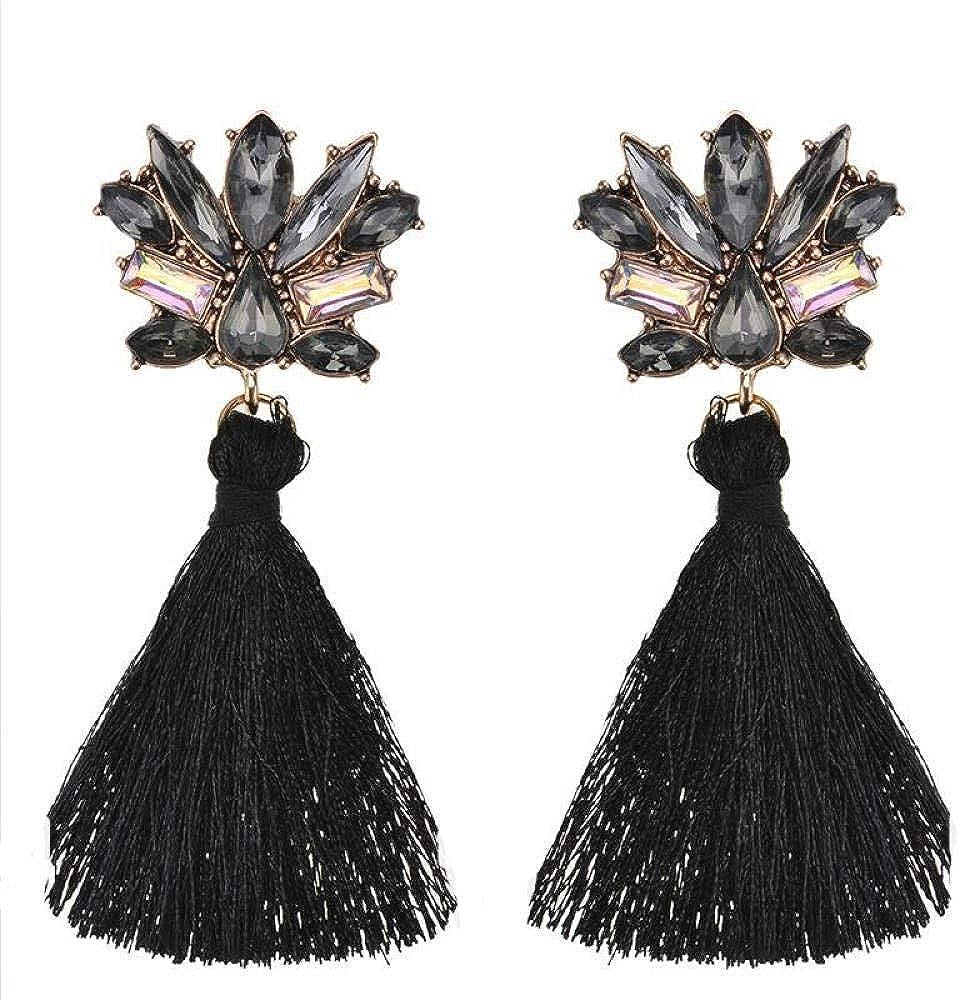Pendientes retros colgantes, Pendientes de perlas, Regalo para el Día de la madre,Piedras preciosas de moda con diamantes y aretes de borla
