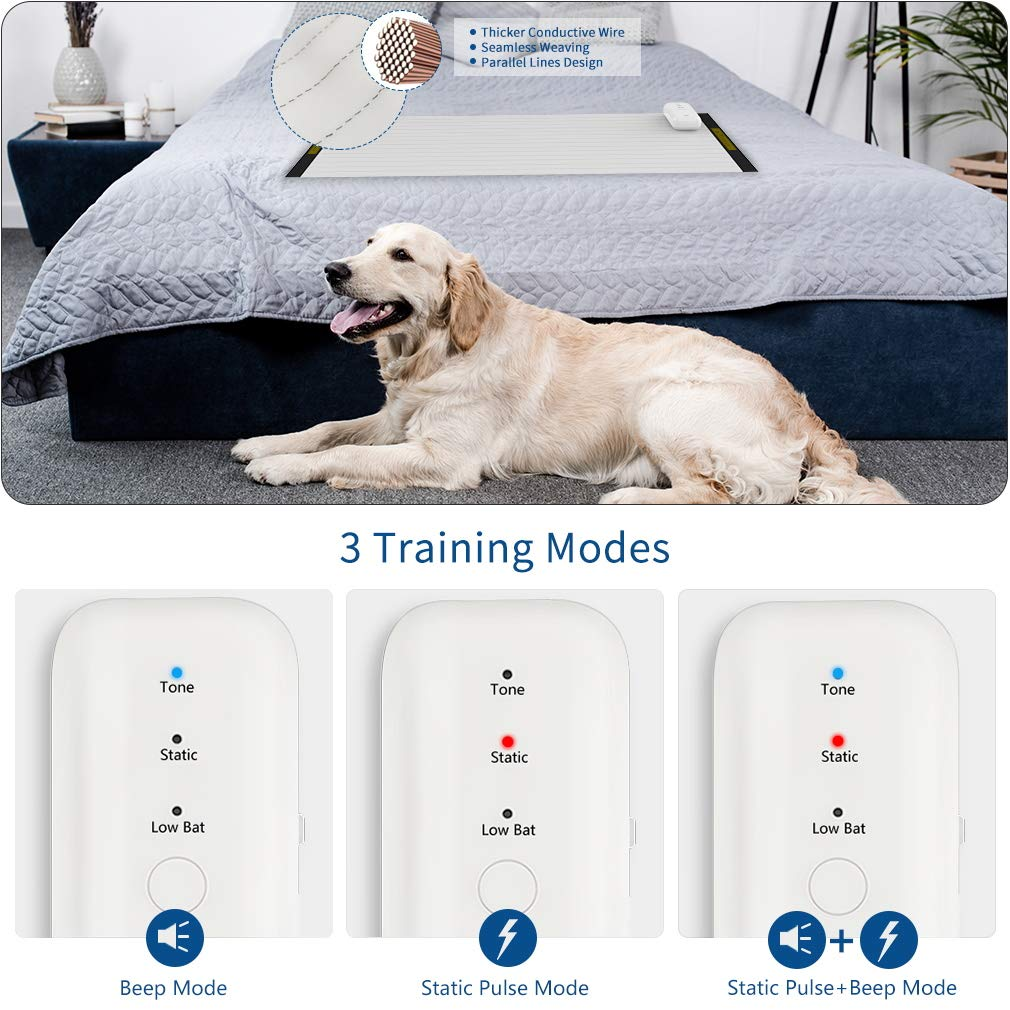 Balimo Pet Training Mat for Dogs & Cats | 3 Training Mode, 4 Electrostatic Pulse Levels, Safety, Low Voltage Battery for Pet Training | Repellent Mat, ...