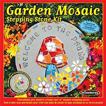 Amazon midwest products garden mosaic stepping stone kit midwest products garden mosaic stepping stone kit pronofoot35fo Images
