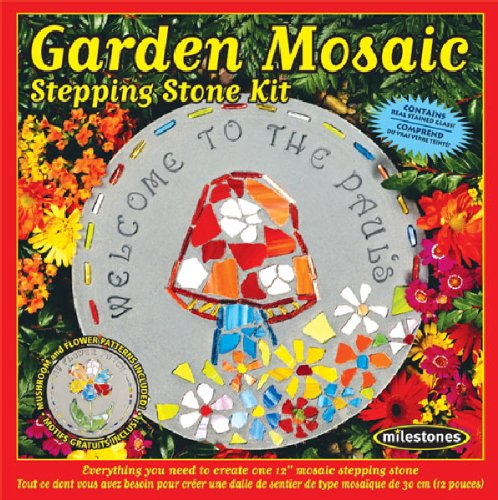 Midwest Products Garden Mosaic Stepping Stone Kit (Kit Craft Garden)